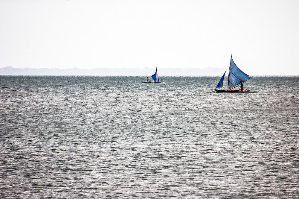 Two paraws (native sailboat), Iloilo City