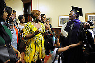 Simmons celebrates her graduation from the University of Missouri School of Law with her sorority sisters on May 16, 2010. According to a January 2010 study by the Association for Legal Career Professionals, African American women account for just 0.57% of partners and 2.93% of associates in law firms nationally. (photo by Erin C. Schwartz/ Columbia Missourian)