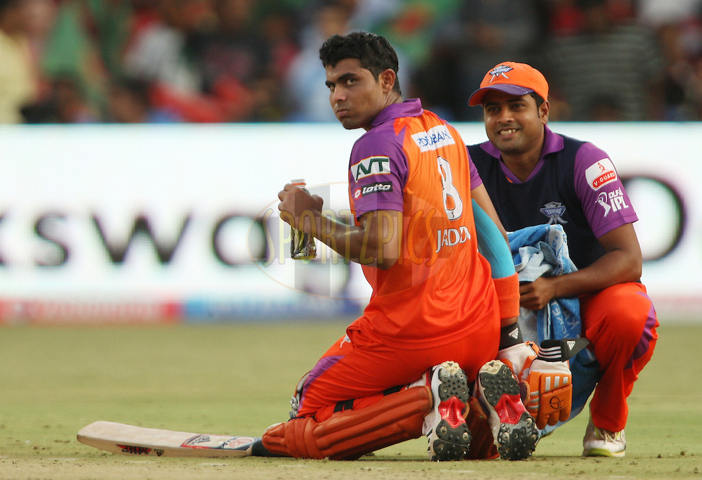 Ravindra Jadeja during match 50 of the the Indian Premier League ( IPL ) Season 4 between the Royal Challengers Bangalore and the Kochi Tuskers Kerala held at the Chinnaswamy Stadium, Bangalore, Karnataka, India on the 8th May 2011..Photo by Jacques Rossouw/BCCI/SPORTZPICS