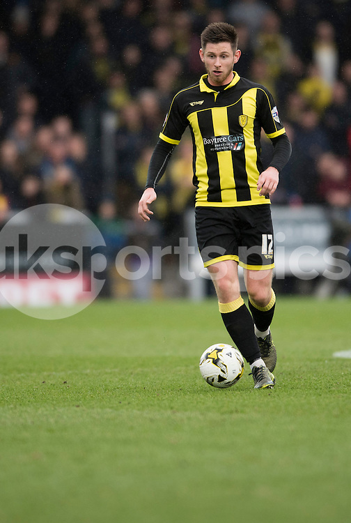Calum Butcher of Burton Albion in action during the Sky Bet League 1 match between Burton Albion and Oldham Athletic at the Pirelli Stadium, Burton upon Trent, England on 26 March 2016. Photo by Brandon Griffiths.