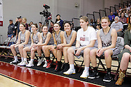 February 18, 2017: The Oklahoma Christian University Eagles basketball teams celebrate senior day during the last home games of the season in the Eagles Nest on the campus of Oklahoma Christian University.