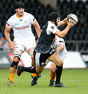 Dan Evans of Ospreys<br /> <br /> Photographer Simon King/Replay Images<br /> <br /> Guinness PRO14 Round 2 - Ospreys v Cheetahs - Saturday 8th September 2018 - Liberty Stadium - Swansea<br /> <br /> World Copyright © Replay Images . All rights reserved. info@replayimages.co.uk - http://replayimages.co.uk