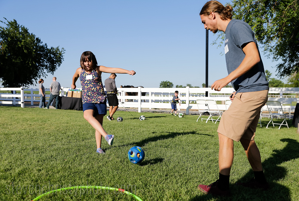 June 7, 2017: OKC Energy FC holds an event for their Sidekicks program in partnership with Special Olympics Oklahoma at the Express Clydesdales Barn in Yukon, Oklahoma.