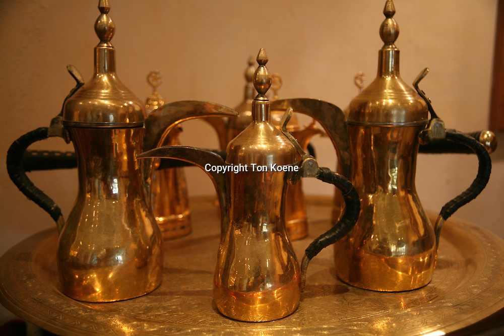 Traditional tea and coffee sets in the Middle East.