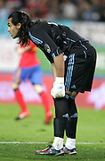 Argentina's goalkeeper Sergio Romero during the international friendly match between Spain and Argentina in Madrid, Spain on November 14 2009.
