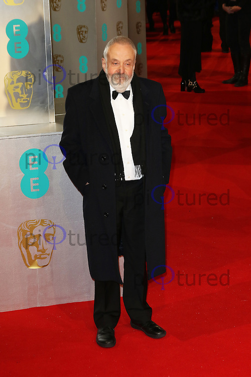 Mike Leigh, EE British Academy Film Awards (BAFTAs), Royal Opera House Covent Garden, London UK, 08 February 2015, Photo by Richard Goldschmidt