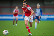 Katrine Veje (Arsenal) during the Brighton and Hove Albion Women vs Arsenal Women, FA WSL Cup at The People's Pension Stadium, Crawley, England on 3 November 2019.