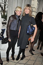 Left to right, BROOKE DE OCAMPO and NICOLA FORMBY at a lunch hosted by Roger Vivier held at Bella Pollen's home, 5 Stanley Crescent , London on 29th January 2013.
