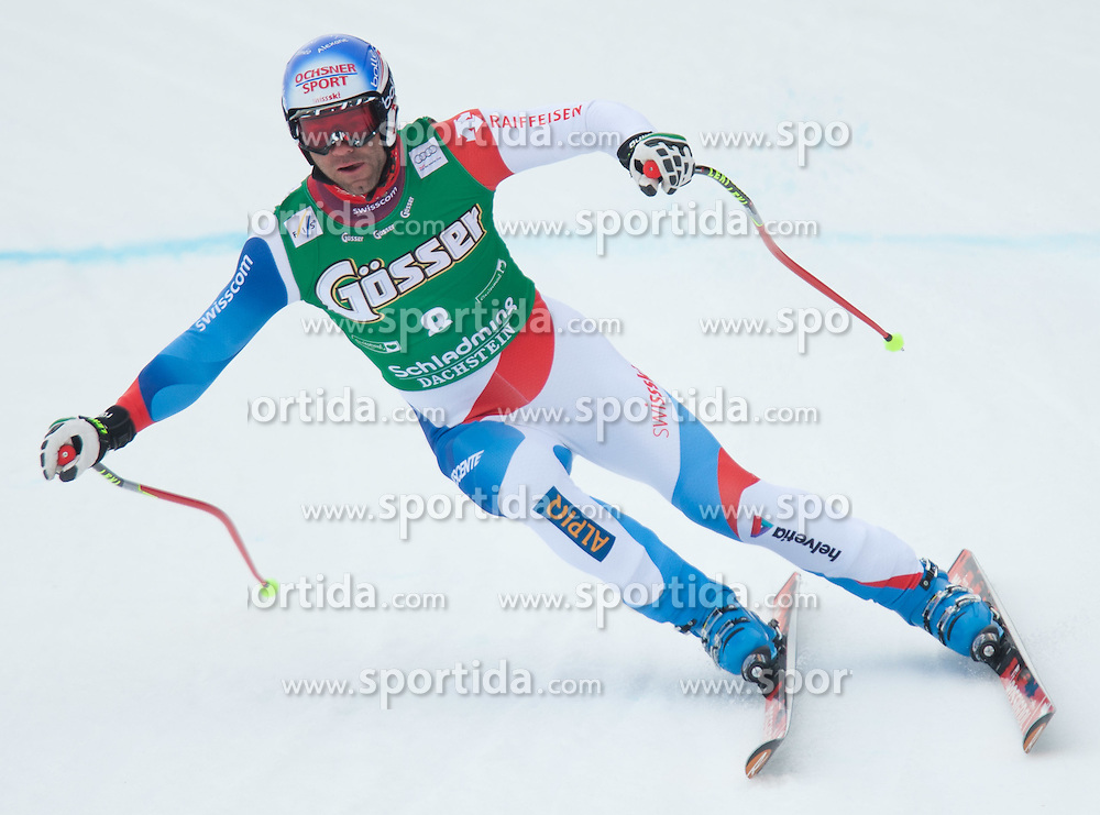 13.03.2012, Planai, Schladming, AUT, FIS Weltcup Ski Alpin, Herren, Abfahrt 1. Training, im Bild Didier Defago (SUI) // Didier Defago of Switzerland during mens 1st downhill practice session of FIS Ski Alpine World Cup at 'Planai' course in Schladming, Austria on 2012/03/13. EXPA Pictures © 2012, PhotoCredit: EXPA/ Johann Groder