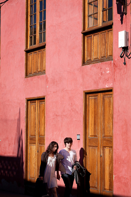 street scenes in La Laguna, Tenerife.
