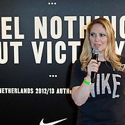 NLD/Amsterdam/20120223 - Presentatie nieuwe uit teneu Nederlands Elftal 2012 / 2013, Fiona Hering
