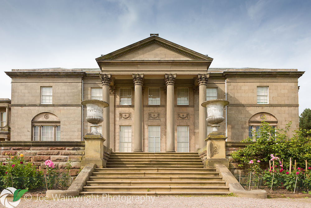 The neo-classical mansion at Tatton Park, Cheshire was built between 1780 and 1813 by the Egerton family.