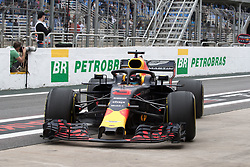 November 9, 2018 - Sao Paulo, Sao Paulo, Brazil - DANIEL RICCIARDO, of Red Bull Racing drives during the free practice session for the Formula One Grand Prix of Brazil at Interlagos circuit, in Sao Paulo, Brazil. The grand prix will be celebrated next Sunday, November 11. (Credit Image: © Paulo LopesZUMA Wire)