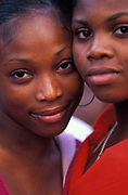 Two young black girls, Notting Hill Carnival, London 2006