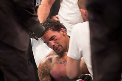September 23, 2018 - Sao Paulo, Sao Paulo, Brazil - ERYK ANDERS (USA), .needs medical care after being knocked out by Thiago Santos Marreta, during the UFC Fight Night Sao Paulo at Ibirapuera Gymnasium in Sao Paulo, Brazil. (Credit Image: © Paulo Lopes/ZUMA Wire)