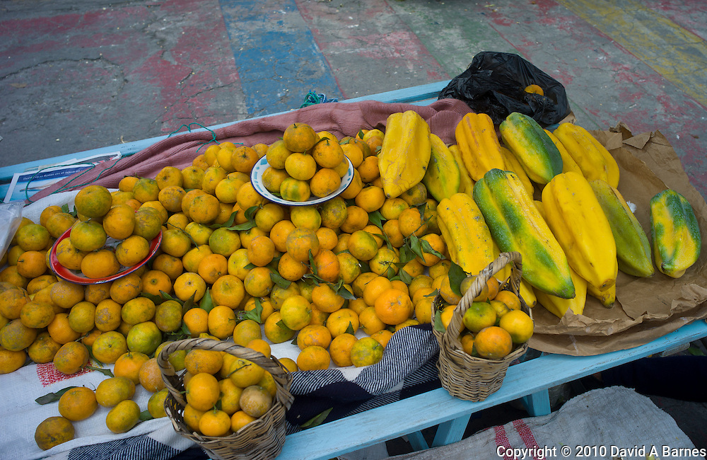 Fruit for sale in market place, Otavalo, Imbabura, Ecuador