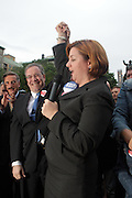 l to r: New York City Council Speaker Christine Quinn and Manhattan Borough President Scott Stringer at The Proposition 8 Protest March and Rally sponsored by New York Marriage Equality Now held at Union Square Park on May 26, 2009 in New York City