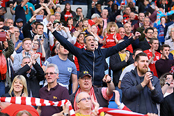 Bristol City fans celebrate staying up after their win against Brighton & Hove Albion - Mandatory by-line: Jason Brown/JMP - 29/04/2017 - FOOTBALL - Amex Stadium - Brighton, England - Brighton and Hove Albion v Bristol City - Sky Bet Championship