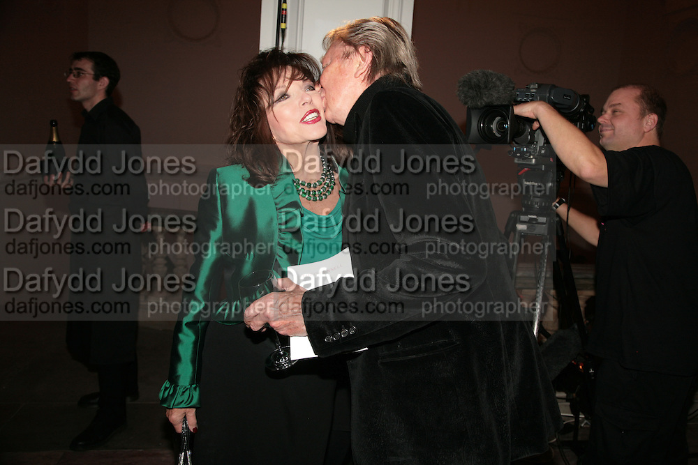 Joan Collins and Jeremy Lloyd, ' Show Off' Theo Fennell exhibition co-hosted wit Vanity Fair. Royal Academy. Burlington Gdns. London. 27 September 2007. -DO NOT ARCHIVE-© Copyright Photograph by Dafydd Jones. 248 Clapham Rd. London SW9 0PZ. Tel 0207 820 0771. www.dafjones.com.