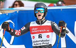 26.10.2019, Hannes Trinkl Weltcupstrecke, Hinterstoder, AUT, FIS Weltcup Ski Alpin, Riesenslalom, Herren, 2. Lauf, im Bild Filip Zubcic (CRO) zweiter Platz // Filip Zubcic of Croatia second Place reacts after his 2nd run of men's Giant Slalom of FIS ski alpine world cup at the Hannes Trinkl Weltcupstrecke in Hinterstoder, Austria on 2019/10/26. EXPA Pictures © 2020, PhotoCredit: EXPA/ Erich Spiess