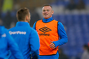 Everton striker Wayne Rooney (10) warming up  during the Premier League match between Everton and Swansea City at Goodison Park, Liverpool, England on 18 December 2017. Photo by Simon Davies.
