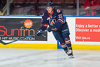 KELOWNA, BC - FEBRUARY 23:Martin Lang #22 of the Kamloops Blazers warms up against the Kelowna Rockets  at Prospera Place on February 23, 2019 in Kelowna, Canada. (Photo by Marissa Baecker/Getty Images)