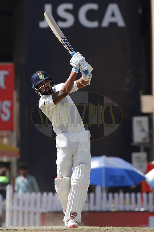 Murali Vijay of India bats during day three of the third test match between India and Australia held at the JSCA International Stadium Complex in Ranchi on the 18th March 2017. <br /> <br /> Photo by: Deepak Malik / BCCI/ SPORTZPICS