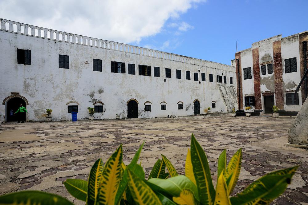 Inner square of the slaven fort, Cape Coast Castle, Elmina, Ghana.