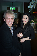 NICK RHODES; NEVER  SUVIO, Nicky Haslam hosts dinner at  Gigi's for Leslie Caron. 22 Woodstock St. London. W1C 2AR. 25 March 2015