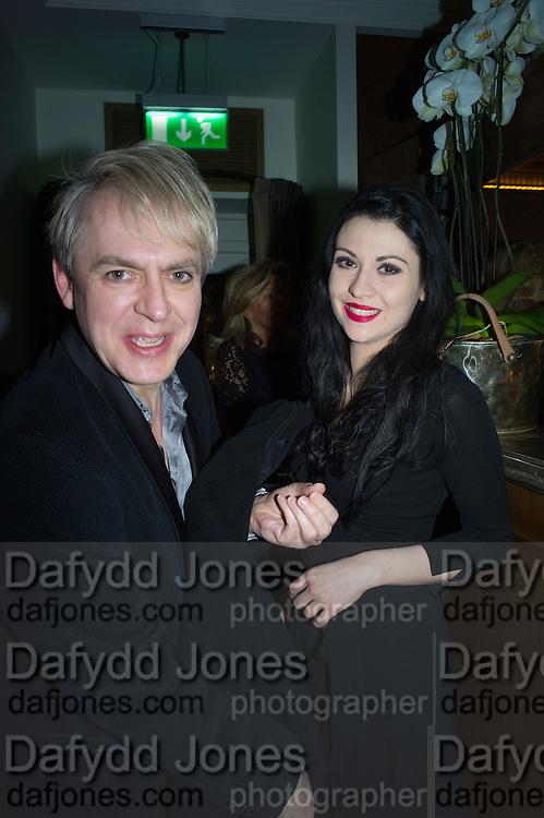 NICK RHODES; NEVER  SUVIO, Nicky Haslam hosts dinner at  Gigi's for Leslie Caron. 22 Woodstock St. London. W1C 2AR. 25 March 2015