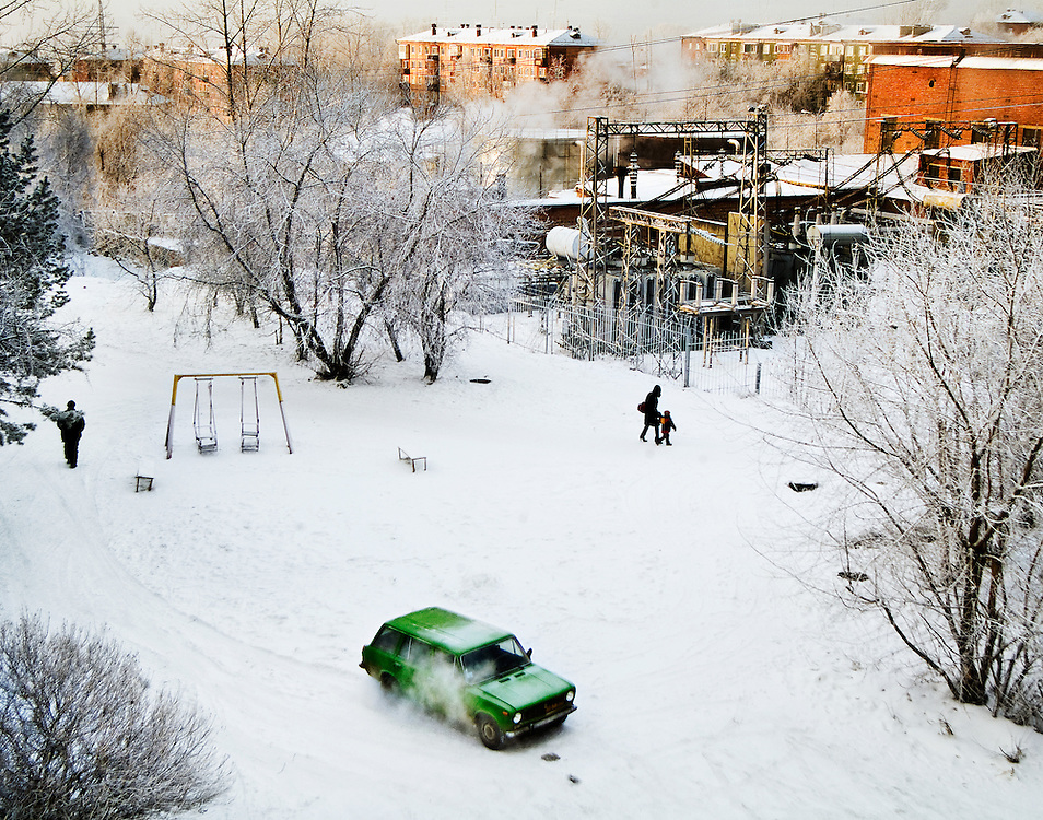 The view from an apartment balcony, Irkutsk
