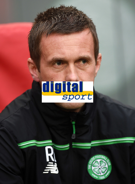 17/09/15 UEFA EUROPA LEAGUE GROUP STAGE<br /> AJAX v CELTIC<br /> AMSTERDAM ARENA - HOLLAND<br /> Celtic manager Ronny Deila