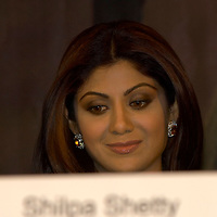 Leeds  IIFA  (International Indian Film Academy) 7 June 2007 Bollywood actress Shilpa Shetty,  at the media briefing for the movie Apne to be released June 29