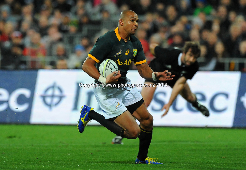 South African Cornal Hendricks during the Rugby Championship Rugby Union Test Match New Zealand All Blacks v South Africa. Westpac Stadium, Wellington, New Zealand. Saturday 13 September 2014. Photo: Chris Symes/www.photosport.co.nz