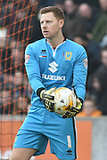 Milton Keynes Dons goalkeeper David Martin(1) during the Sky Bet Championship match between Hull City and Milton Keynes Dons at the KC Stadium, Kingston upon Hull, England on 12 March 2016. Photo by Ian Lyall.