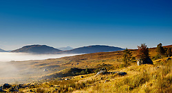 Early morning mist rolls in across Rannoch Moor, Highlands of Scotland<br /> <br /> (c) Andrew Wilson | Edinburgh Elite media