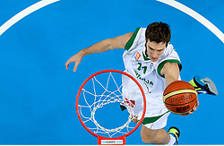Goran Dragic of Slovenia during basketball game between National basketball teams of Slovenia and Serbia in 7th place game of FIBA Europe Eurobasket Lithuania 2011, on September 17, 2011, in Arena Zalgirio, Kaunas, Lithuania. Slovenia defeated Serbia 72 - 68 and placed 7th. (Photo by Vid Ponikvar / Sportida)
