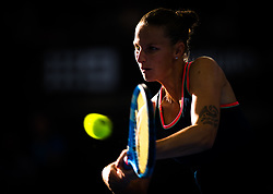 January 6, 2019 - Brisbane, AUSTRALIA - Karolina Pliskova of the Czech Republic in action during the final of the 2019 Brisbane International WTA Premier tennis tournament (Credit Image: © AFP7 via ZUMA Wire)