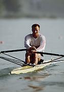 .Barcelona Olympic Games 1992.Olympic Regatta - Lake Banyoles.GER M1X Thomas Lange heat men's single..       {Mandatory Credit: © Peter Spurrier/Intersport Images]..........       {Mandatory Credit: © Peter Spurrier/Intersport Images]..........       {Mandatory Credit: © Peter Spurrier/Intersport Images].........