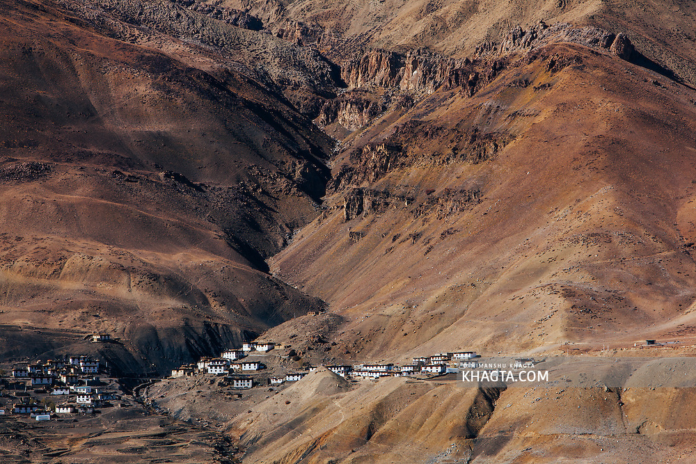 Chicham village of Spiti Valley, Himachal Pradesh, India
