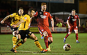 Matt Harrold plays a through ball during the Sky Bet League 2 match between Crawley Town and Newport County at the Checkatrade.com Stadium, Crawley, England on 1 March 2016. Photo by Michael Hulf.