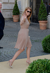Image ©Licensed to i-Images Picture Agency. 05/07/2014. Rome, Italy.  Beatrice of York attends the wedding of Prince Amedeo Of Belgium and Elisabetta Maria Rosboch Von Wolkenstein at Basilica Santa Maria in Trastever. Picture by  Schneider-Press / i-Images<br /> UK&USA ONLY