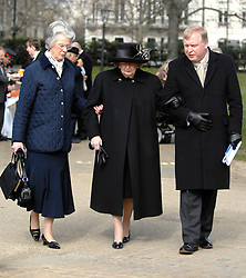 "© under license to London News Pictures. FILE PICTURE: Lady Thatcher has been admitted to hospital for tests.  05/03/2010: Margaret Thatcher attends the  Ceremony for the Memorial Gates at Hyde Park Corner to rename ""The Commonwealth Memorial Gates"". Baroness Thatcher has died this morning follow a stroke, her spokesman Lord Bell says"