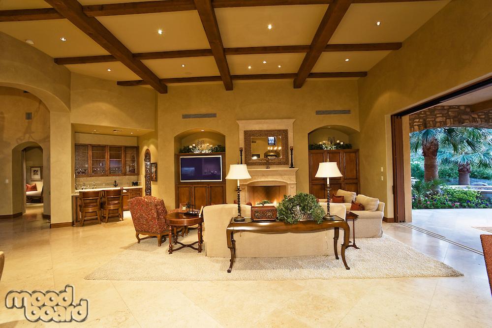 Interior of modern living room of luxury villa