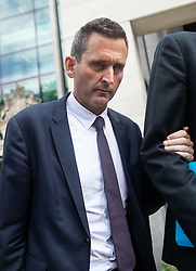 © Licensed to London News Pictures. 22/07/2019. London, UK. Chris Holmes - Baron Holmes of Richmond, leaves Westminster Magistrates' Court where he appeared on charges of sexual assault. Photo credit : Tom Nicholson/LNP