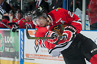 KELOWNA, CANADA - MAY 1: Oliver Bjorkstrand #27 of Portland Winterhawks takes a shot on net against the Kelowna Rockets during the second period of game 5 of the Western Conference Final on May 1, 2015 at Prospera Place in Kelowna, British Columbia, Canada.  (Photo by Marissa Baecker/Getty Images)  *** Local Caption *** Oliver Bjorkstrand;