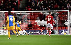 Daniel Johnson of Preston North End hits the post  - Mandatory byline: Joe Meredith/JMP - 12/01/2016 - FOOTBALL - Ashton Gate - Bristol, England - Bristol City v Preston North End - Sky Bet Championship