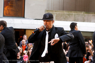 Donnie Wahlberg and New Kids on the Block appear on The Today Show at Rockefeller Center on May 8,2009. New York, NY..Photo Credit ; Rahav Segev/Retna