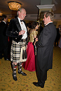 SIR IAN LOWSON AND JOHN MILNE, The Royal Caledonian Ball 2008. In aid of the Royal Caledonian Ball Trust. Grosvenor House. London. 2 May 2008.  *** Local Caption *** -DO NOT ARCHIVE-? Copyright Photograph by Dafydd Jones. 248 Clapham Rd. London SW9 0PZ. Tel 0207 820 0771. www.dafjones.com.
