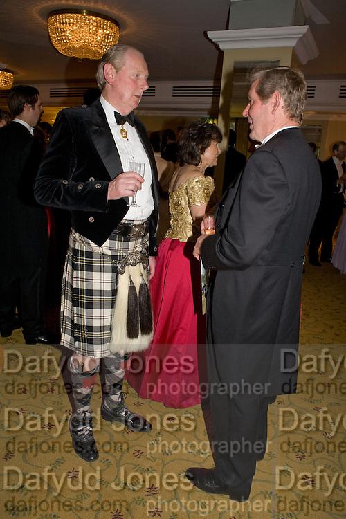 SIR IAN LOWSON AND JOHN MILNE, The Royal Caledonian Ball 2008. In aid of the Royal Caledonian Ball Trust. Grosvenor House. London. 2 May 2008.  *** Local Caption *** -DO NOT ARCHIVE-? Copyright Photograph by Dafydd Jones. 248 Clapham Rd. London SW9 0PZ. Tel 0207 820 0771. www.dafjones.com.